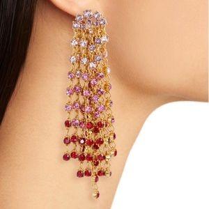 Jewelry - Oscar de la renta cascade waterfall clip earrings